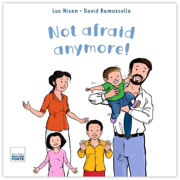 """""""Not afraid anymore!"""" book cover"""